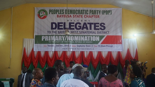 HSDickson - PDP Bayelsa West Senatorial District Primary Nomination. 2nd October 2018