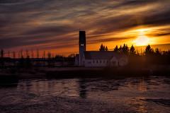 Sunset in Iceland (carlosvilavarela) Tags: iceland icelandtravel nikonistas sunset church winternature water 500px island landscape lake europe phototravel nikon kópavogur höfuðborgarsvæði islandia is