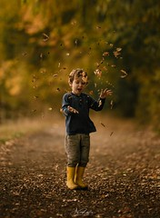 Happy Autumn (agirygula) Tags: autumn leaves fall yellow boy family childhood playing outdoor fun happy forest