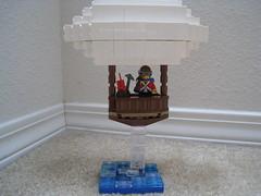 Airship (jgiese626) Tags: lego moc vehicle vignette airship dirigible zeppelin blimp explorer adventurer pilot captain water ocean waves message bottle dynamite pickaxe flight snot