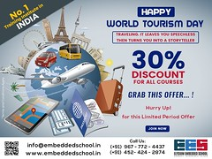ESS_World_TourismDay_OfferBanner c (embeddedschoolelysium) Tags: certification course education training institute centre tourismday offer coaching career embeddedschool discount