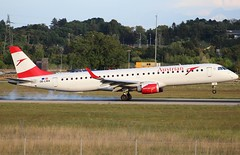 Austrian Airlines. OE-LWA. Embraer ERJ-195LR. (Themarcogoon49) Tags: austrian embraer aircraft landing gva lsgg cointrin airport switzerland avgeek avion planespotting aviation