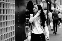 Sweep (McLovin 2.0) Tags: candid people girls street streetphotography hair bw urban city melbourne style sony a7s zeiss 55mm bokeh