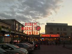 Pike Place Market (kwschaff) Tags: seattle washington pike place market sunset dusk neon night