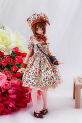 Happy birthday, Fuka (kwokt59) Tags: doll azone azonejp pureneemo excute fuka 16 flowers m sewing clothes dollclothes