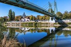 Reflections at the river (Daniel Boca) Tags: water waterscape river bridge architectural architecture blue bluesky green tree trees reflection reflections mirror nature naturephotography naturepics naturephotograph outdoor outside outdoors canon canoneos750d canoneurope canonromania landscape city cityscape clearwater clearsky