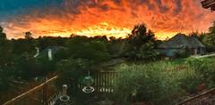 Fiery sunset on a windy night (Pejasar) Tags: fiery impressionistic painterly paintcreations artistic tonight deck myyard tulsa oklahoma