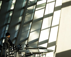 #295 Contemplation (tokyobogue) Tags: 365project tokyo japan roppongi nationalartcentretokyo nikon nikond7100 d7100 sigma sigma1750mmexdcoshsm windows shadows light lines