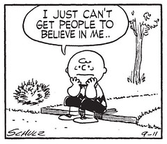 Believe in me (gameraboy) Tags: believeinme belief peanuts charliebrown comics art illustration vintage charlesschulz charlesmschulz 1956 1950s