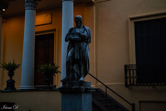 Exploring Savannah at dusk (Irina1010) Tags: dusk statue michelangelo telfair museum savannah architecture 2018 canon coth5