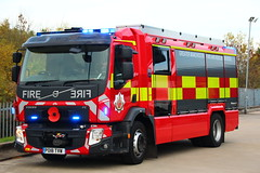 Greater Manchester Fire & Rescue Rosenbauer Volvo FE Technical Rescue Unit (Ben Greenwood's 999 Photography) Tags: greater manchester fire rescue rosenbauer volvo fe technical unit tru leds 999 ashton po18tvw