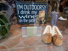 rugged life (Riex) Tags: humour humorous joke blague pantoufles slippers vitrine storefront whimsical carmelbythesea california g9x