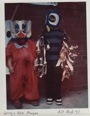 1971_10_30 Jerry Ken Halloween (Ken_Mayer) Tags: mayer family vinsonhallclearout