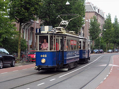 GVB 465 (jvr440) Tags: tram trolley strassenbahn gvb elektrische museumtramlijn amsterdam ema blauwe wagen middeninstapper