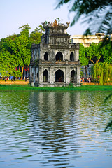 Turtle Tower on Hoan Kiem Lake, Hanou (Andrey Sulitskiy) Tags: hoankiem hanoi vietnam