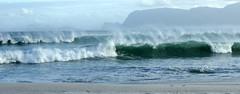 When the wind blows... (Michele's POV) Tags: windswept wind windblown seascape sea waves wavebreak wavespray wildnature mountains beachview