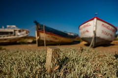 Boats... (hobbit68) Tags: boats boote fujifilm xt2 himmel sky gras sonne sun sunshine espana espanol espagne andalusien andalucia barca barcos holiday urlaub old atlantik ozean alt hafen puerto port wasser water holz