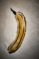 Banana time! (iamunclefester) Tags: münchen munich asatouristinmyhometown manualfocus manualfocusday street banana time fruit concrete plastering detail closeup yellow stencil graffiti dof