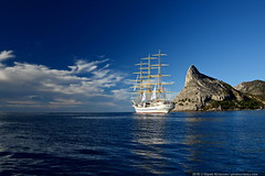 DSC_6627 (yuhansson) Tags: фрегат херсонес море чёрное парусник крым паруса парус корабли корабль путешествие путешествия югансон юрий boat sea sky water vessel ship sailing новыйсвет судак