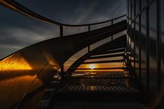 Sunset (tan.ja1212) Tags: rotterdam euromast geländer railing treppe stairs sonnenuntergang sunset spiegelung reflection himmel sky sonnenlicht sunlight