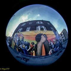 Pilsen, Chicago (MiguelVP) Tags: chicago film fisheye mural latin