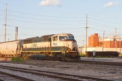 PRLX #9560 at Granite City (tim_1522) Tags: railroad railfanning rail illinois il norfolksouthern ns altondistrict manifestfreight executivescheme emd sd70mac
