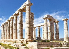 Temple of Poseidon, Sounio, Greece (PolaritySwitch) Tags: greece poseidon travel architecture ruins athens canon