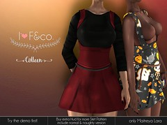 Colleen (Ainadara Resident) Tags: i3f i3fco maitreya fashion original mesh event exclusive shinyshabby skirt dress outfit belt chains pattern helloween cute kawaii top shirt