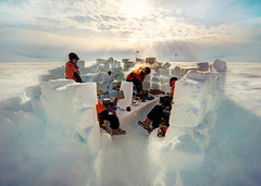 Lunch Time In Antartica (Trey Ratcliff) Tags: antarctica ratcliff stuckincustomscom trey treyratcliff white cold igloo snow sun landscape