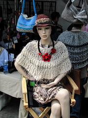 Display Mannequin (J Wells S) Tags: mannequin plasticpeople dummy displaydummy knitgoods festivalbooth hat sweater chair purses coneyisland california cincinnati ohio