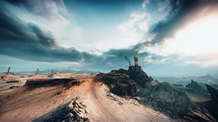 Mad Max (screenreel) Tags: madmax postapocalypse road landscape sky soil desert clouds day light bright building horizon tower survivors car vehicle atmosphere graphics photo screenshot camera angle blur colorfull destroyed abandoned rock videogame digital gaming pc