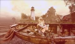 ...beauty in old things... (lindini2) Tags: secondlife sl lhooq nutmeg boat lighthouse shore kaithleens monso