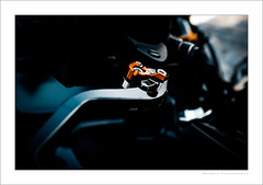 Kawasaki Z800 brake lever (G. Postlethwaite esq.) Tags: autonomousregion dof fujix100t japanese kawasakiz800 macro madeira portugal bokeh brakelever closeup depthoffield motorbike motorcycle photoborder selectivefocus