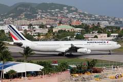 F-GLZJ AIR FRANCE A340-313X at SXM-TNCN (GeorgeM757) Tags: fglzj airfrance a340313x aircraft aviation airplane airport sxmtncm stmaarten a340 georgem757 widebody departure airbus takeoff