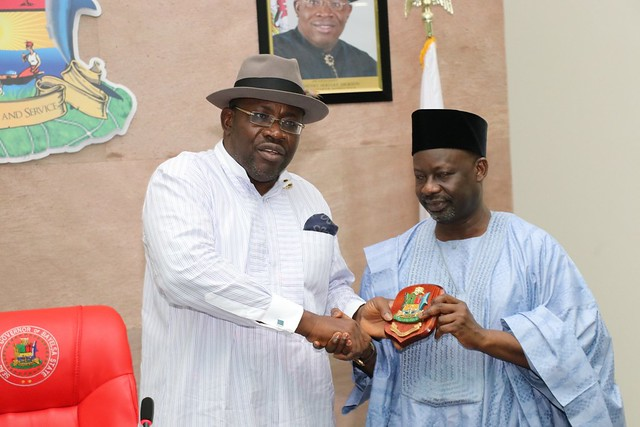 HSDickson-  Courtesy Call By Gombe State Governor Ibrahim Hassan Dankwambo. 25th September 2018