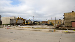 Street View (Lester Public Library) Tags: demolition downtown downtowntworivers tworiverswisconsin tworivers construction demo buildings equipment debris lesterpubliclibrarytworiverswisconsin readdiscoverconnectenrich