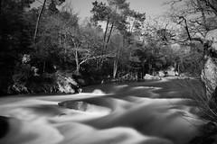 2014 - Mars - Les roches du diable (1).002 (hubert_lan562) Tags: roche diable riviere torrent finistere bretagne noir blanc pose longue long exposure nature eau black white gris monochrome 29 quimperlé river