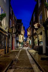 The Shambles, York (In explore 15/10/2018) (EricMakPhotography) Tags: medieval city street cobblestone dusk night light longexposure