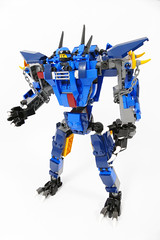 "Jay's Werewolf Mech - Lego Ninjago 70652 Alternate MOC (""grohl"") Tags: jayzane daddynolegs jay zane ninjago lego mech robot transformer transforming 2018 70652 grohl666 grohld wolf werewolf dog transformation blue stormbrnger functions fun feature"