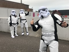 Imperial Stormtroopers Have Landed (firehouse.ie) Tags: fancydress movierelated movie october2018 charleville ireland costumes costume outfit stormtroopers troopers imperial thedarkside theforce lukeskywalher starwars