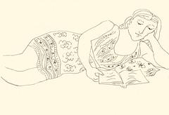 Reading 20181020 1 (danielborisheifetz) Tags: art drawing pen ink female reading