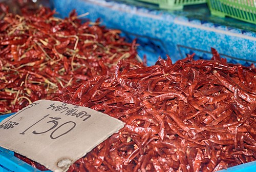 chillies in Market  chiang Mai 1a