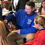 Education majors help at Dia de los Muertos event