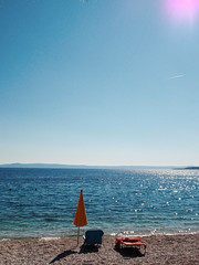 They went to the water (marco_albcs) Tags: coast croatia hrvatska brela dalmatia adriatic warm beach chair