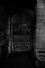 Through the Abbetgate (Bury Gardener) Tags: burystedmunds suffolk streetphotography street streetcandids snaps strangers candid candids people peoplewatching folks 2018 nikond7200 nikon england eastanglia uk britain abbeygardens blackandwhite