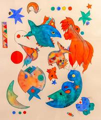 Watercolor Foodchain (Pejasar) Tags: foodchain colorado estespark color water fish painting watercolor artistic art