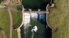 Stony Stratford a19 (uwsjjsrw40) Tags: stony stratford river great ouse millfield weir aerial