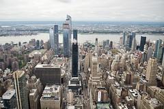 West view from the Empire State Building (86th Floor), Midtown Manhattan, NY (AperturePaul) Tags: newyorkcity newyork city unitedstates america manhattan nikon d600 architecture view empirestatebuilding observatory skyscraper skyscrapers hudsonyards