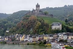 Ansicht mit Burg (grasso.gino) Tags: deutschland germany eifel vulkaneifel nikon d5200 cochem stadt town häuser houses flus river mosel burg castle reichsburg