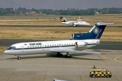 TC-FAR   Yakovlev Yak-42D [4520421014494] (Top Air) Dusseldorf Int'l~D @ 01/06/1995 (raybarber2) Tags: 4520421014494 airliner cn4520421014494 eddl flickr johnbabbagecollection planebase slide tcfar turkishcivil filed